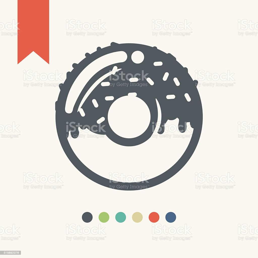 donut icon vector art illustration
