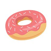 Donut icon. Vector illustration.