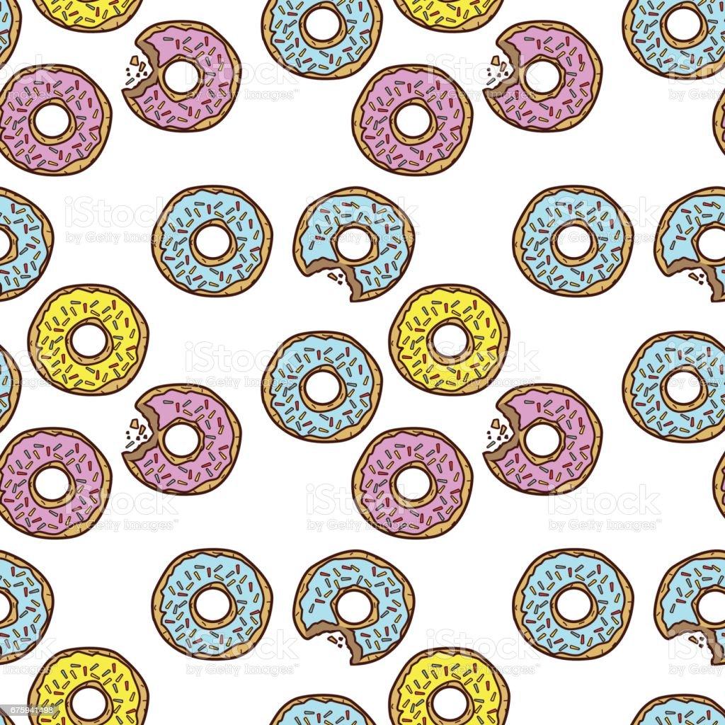 Donut illustration vector art illustration