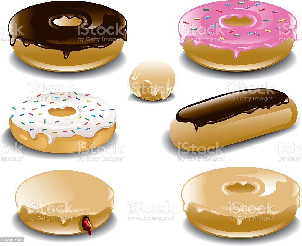 Donut plate vector art illustration
