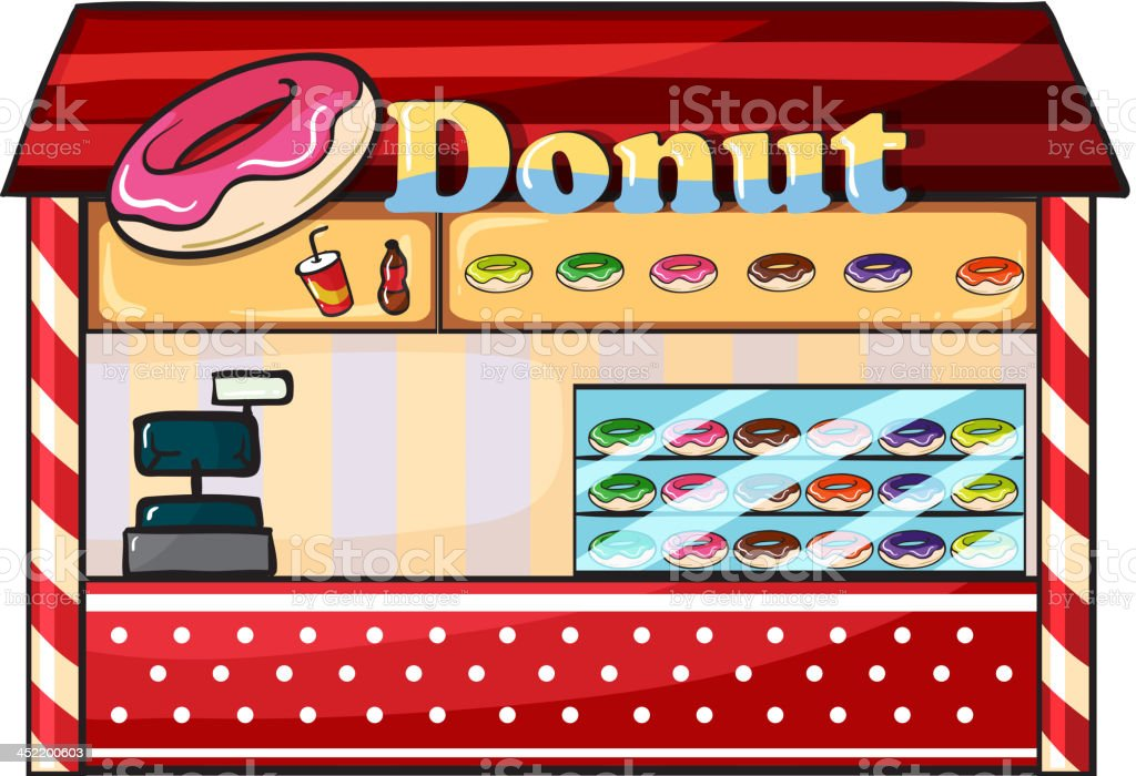 Donut shop royalty-free stock vector art