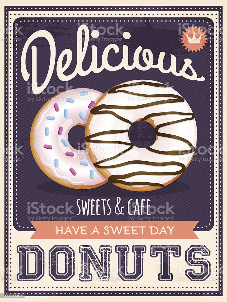 donuts poster royalty-free stock vector art