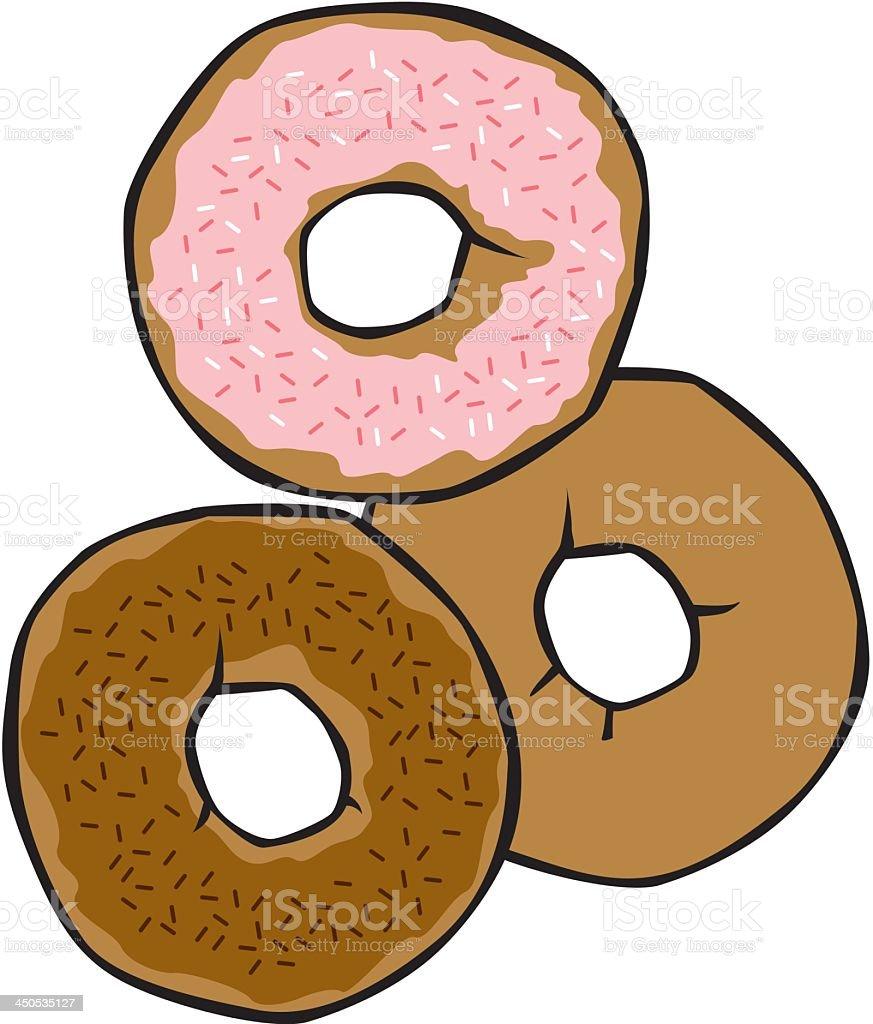 Donuts royalty-free stock vector art