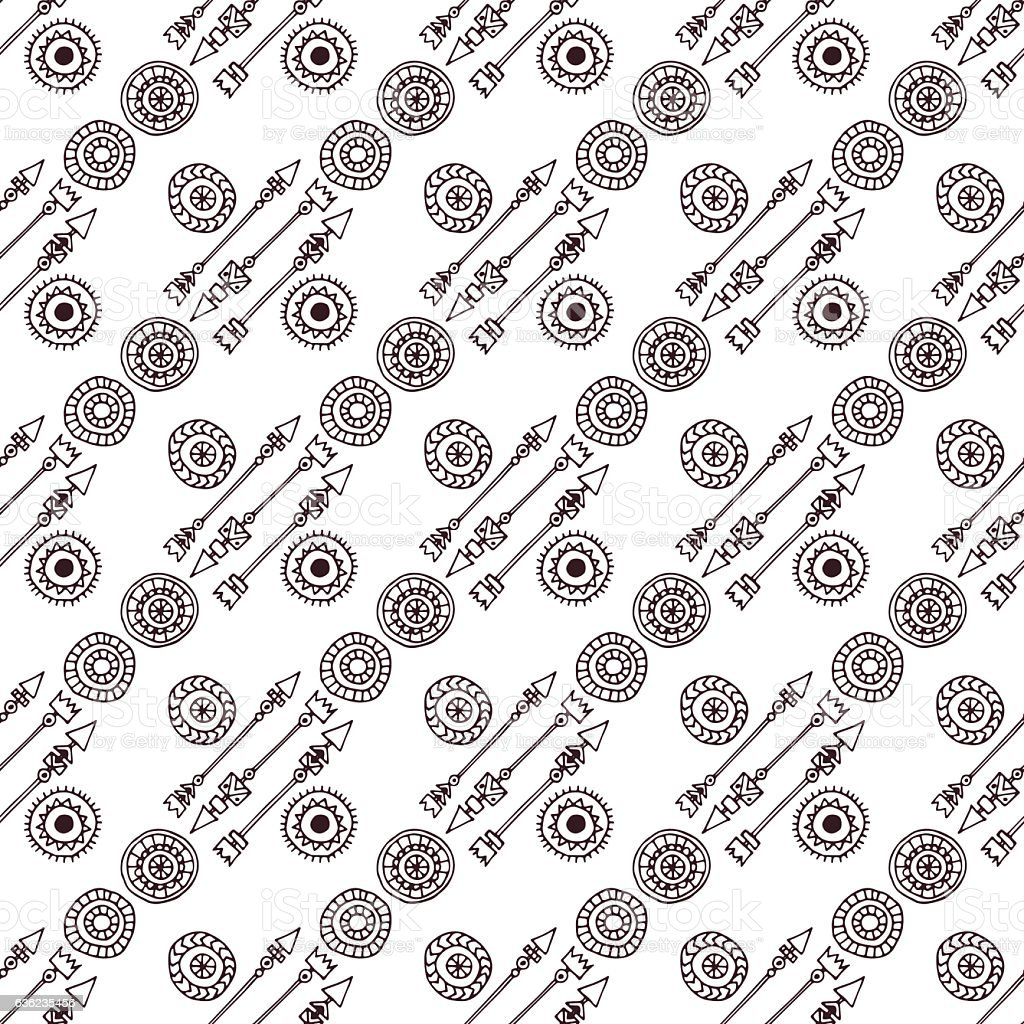 Doodle abstract lines seamless pattern. royalty-free stock vector art