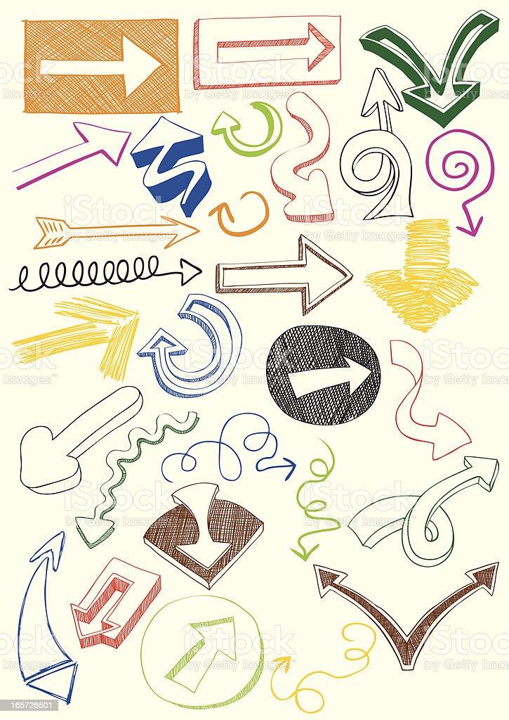 Doodle Arrows royalty-free stock vector art