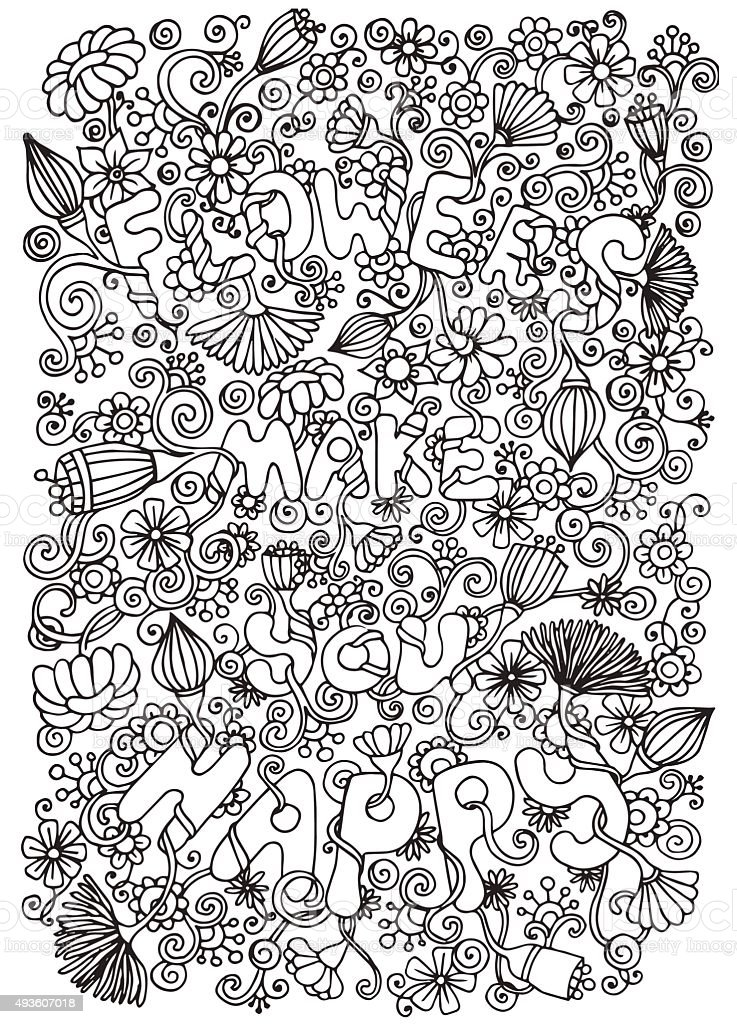Doodle background in vector with doodles, flowers and paisley. vector art illustration