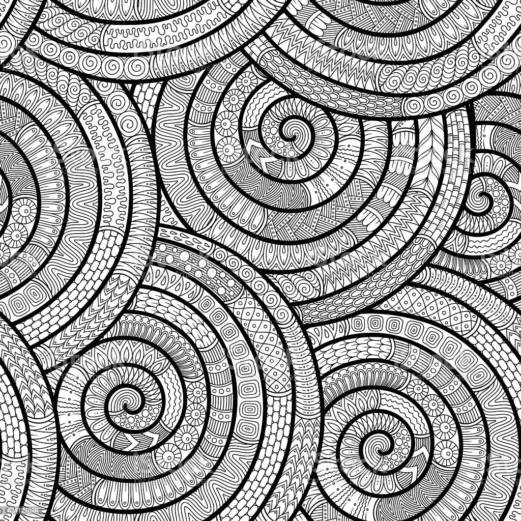 Doodle background in vector with doodles . Vector ethnic pattern can...