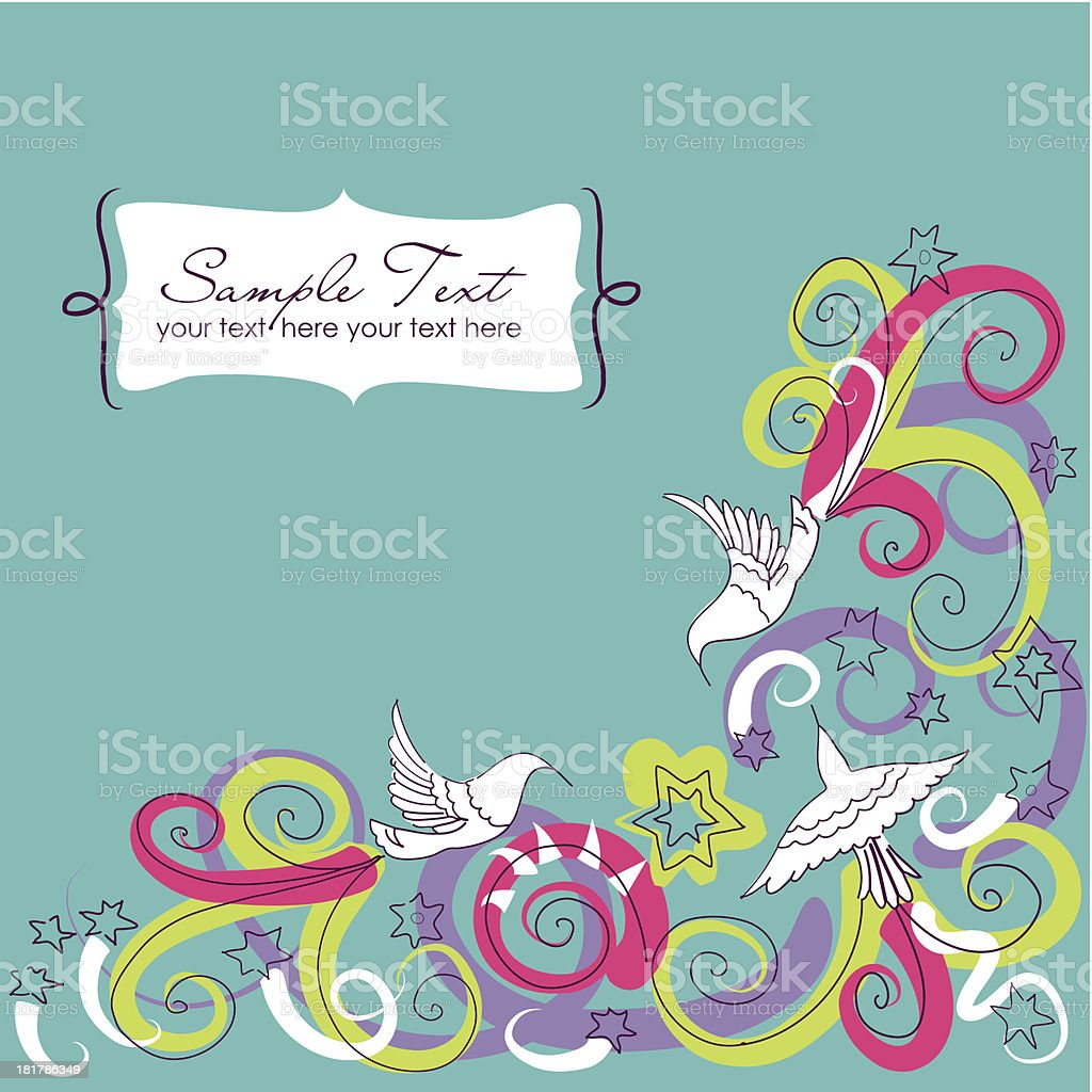 Doodle background royalty-free stock vector art
