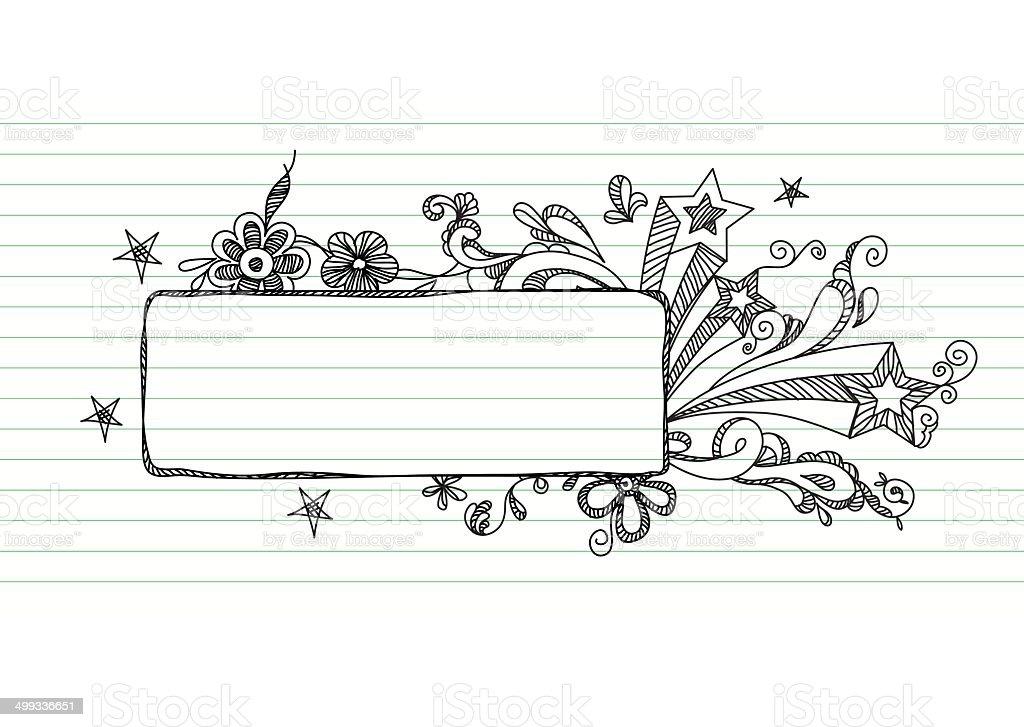 Doodle Banner vector art illustration