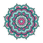 doodle color mandala