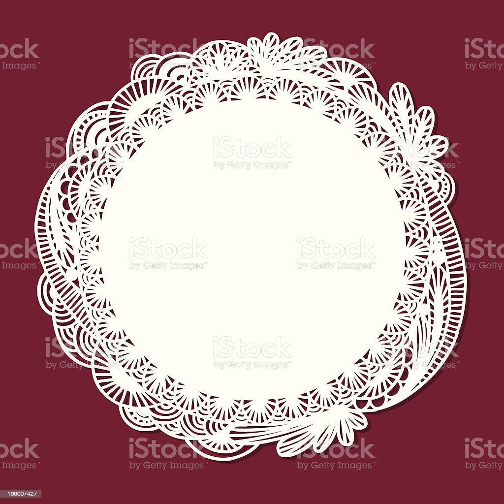Doodle Doily royalty-free stock vector art