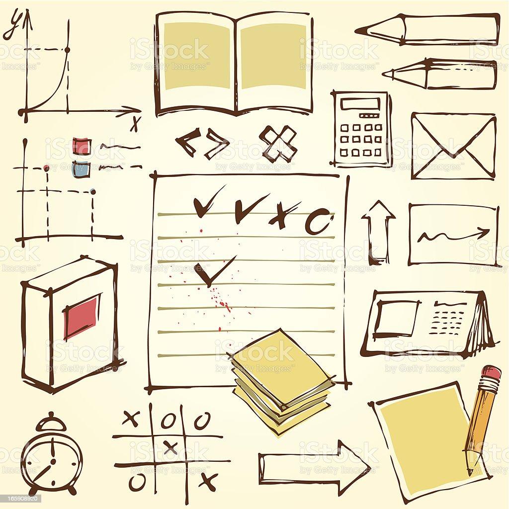Doodle Education Kit royalty-free stock vector art