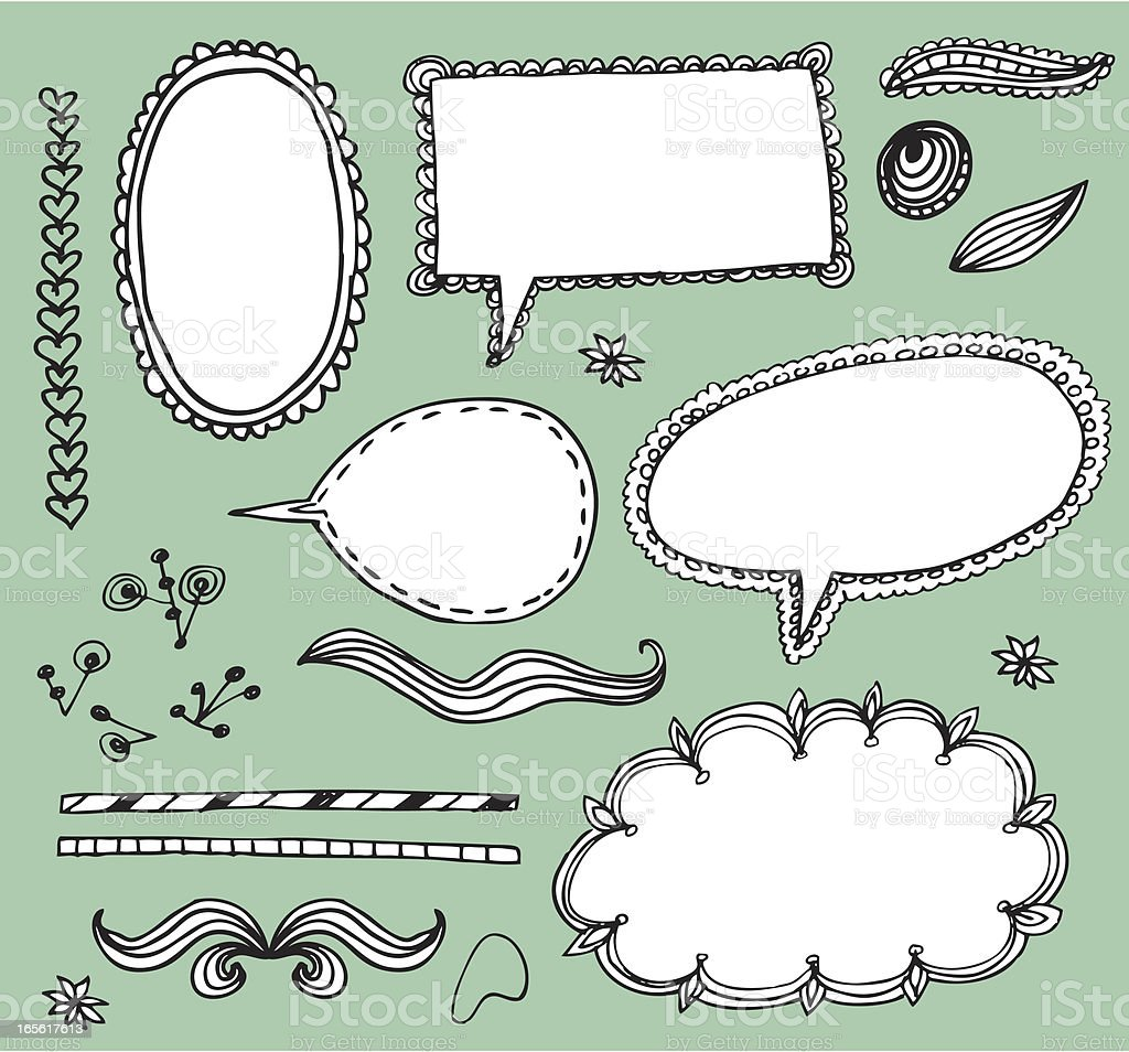 doodle elements royalty-free stock vector art