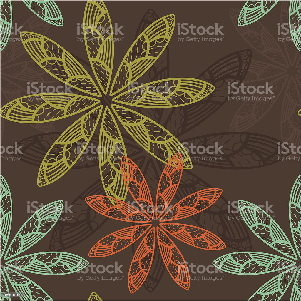 Doodle flower pattern royalty-free stock vector art