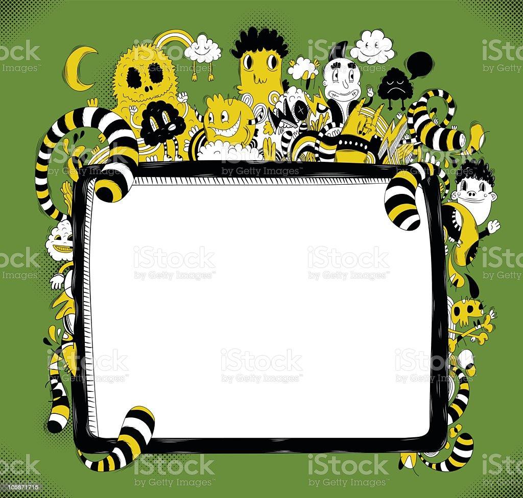Doodle frame vector art illustration