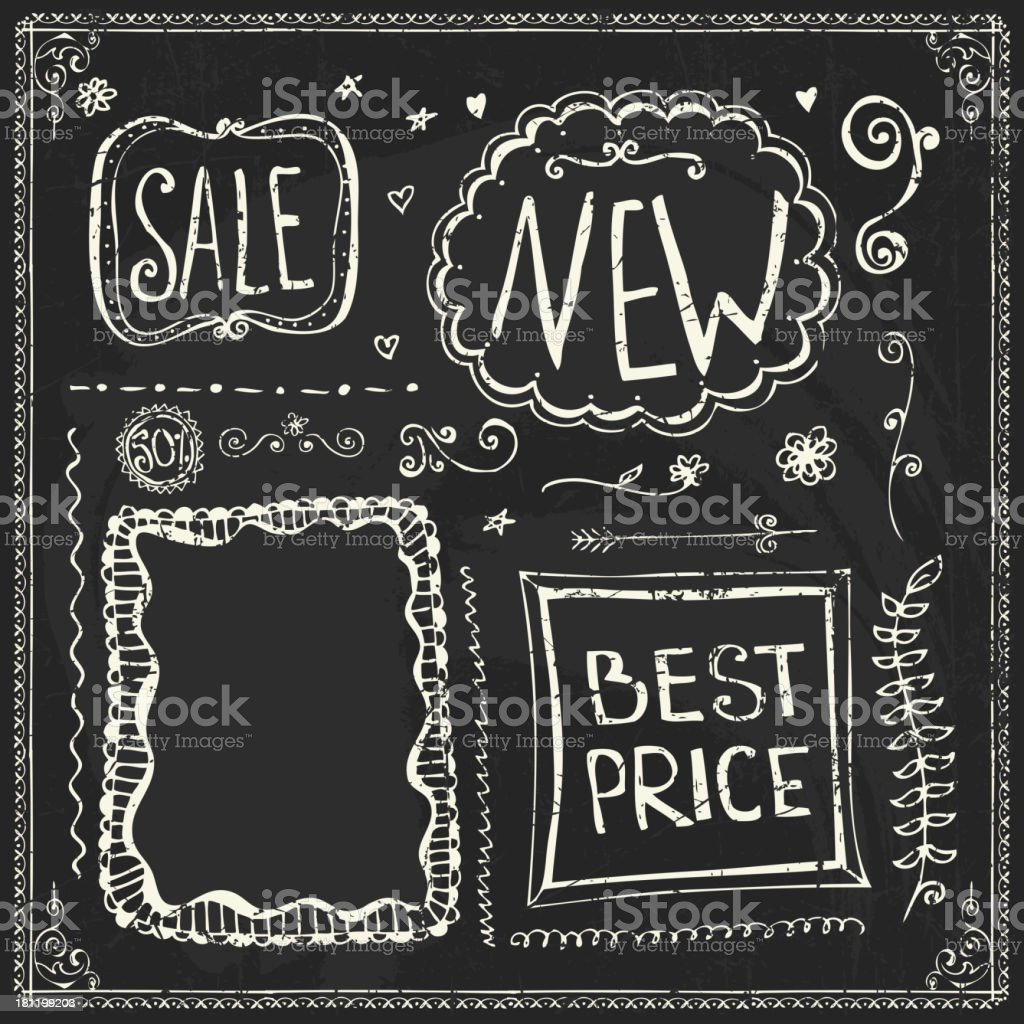 Doodle frames for store discounts royalty-free stock vector art