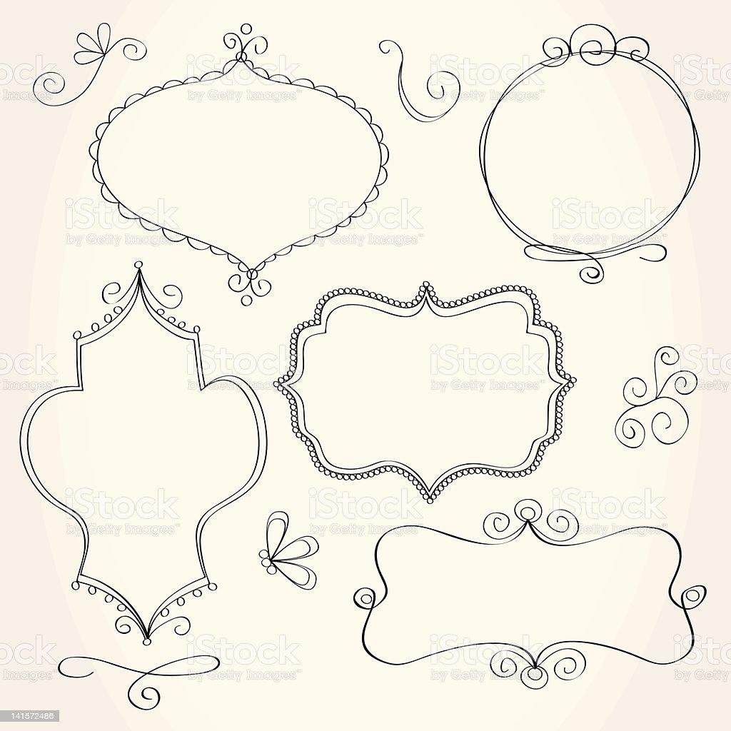 Doodle Frames vector art illustration