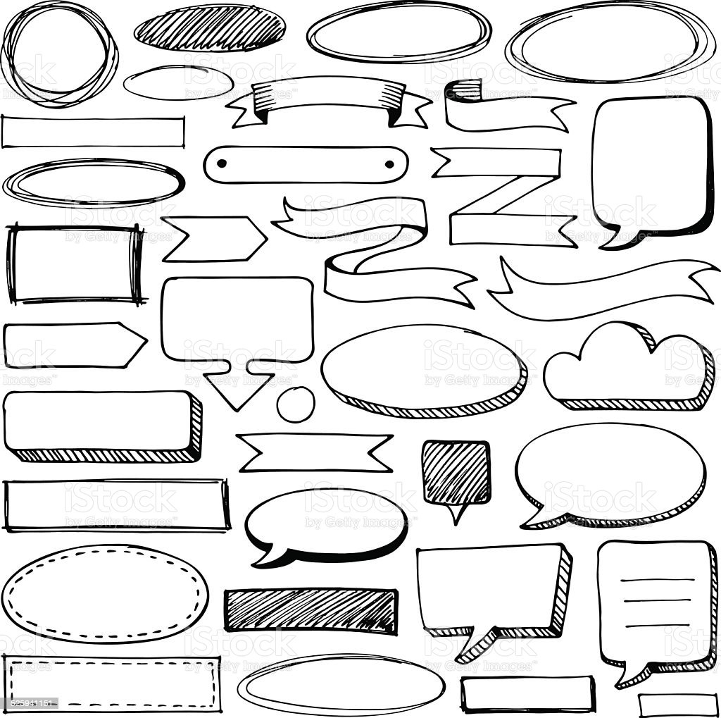 Doodle frames vector art illustration