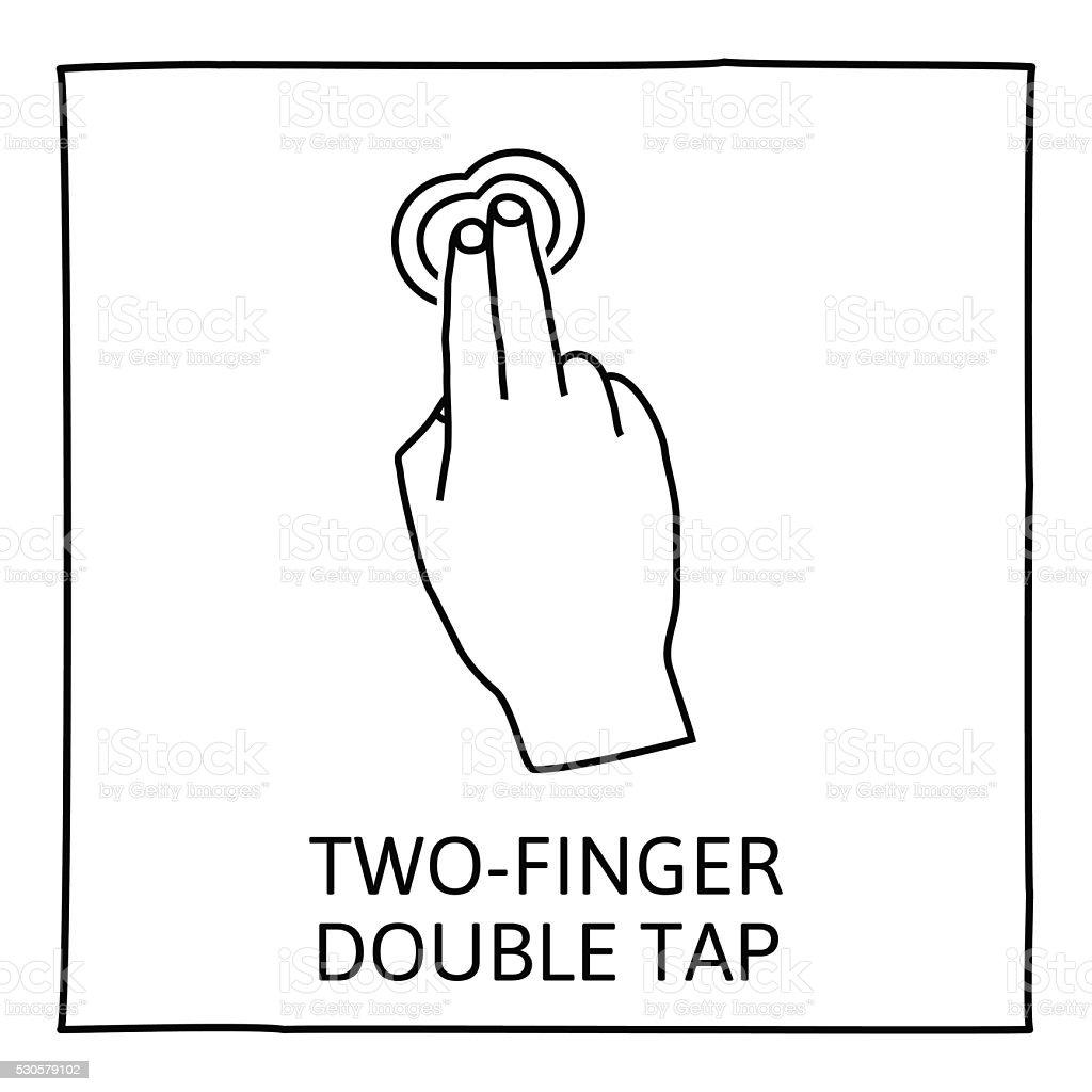 Doodle gesture icon vector art illustration