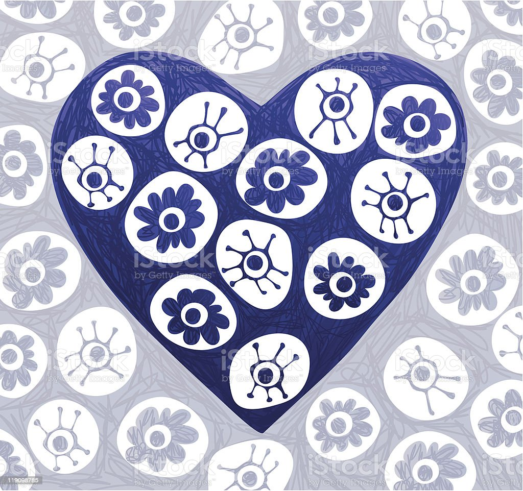 Doodle Heart royalty-free stock vector art