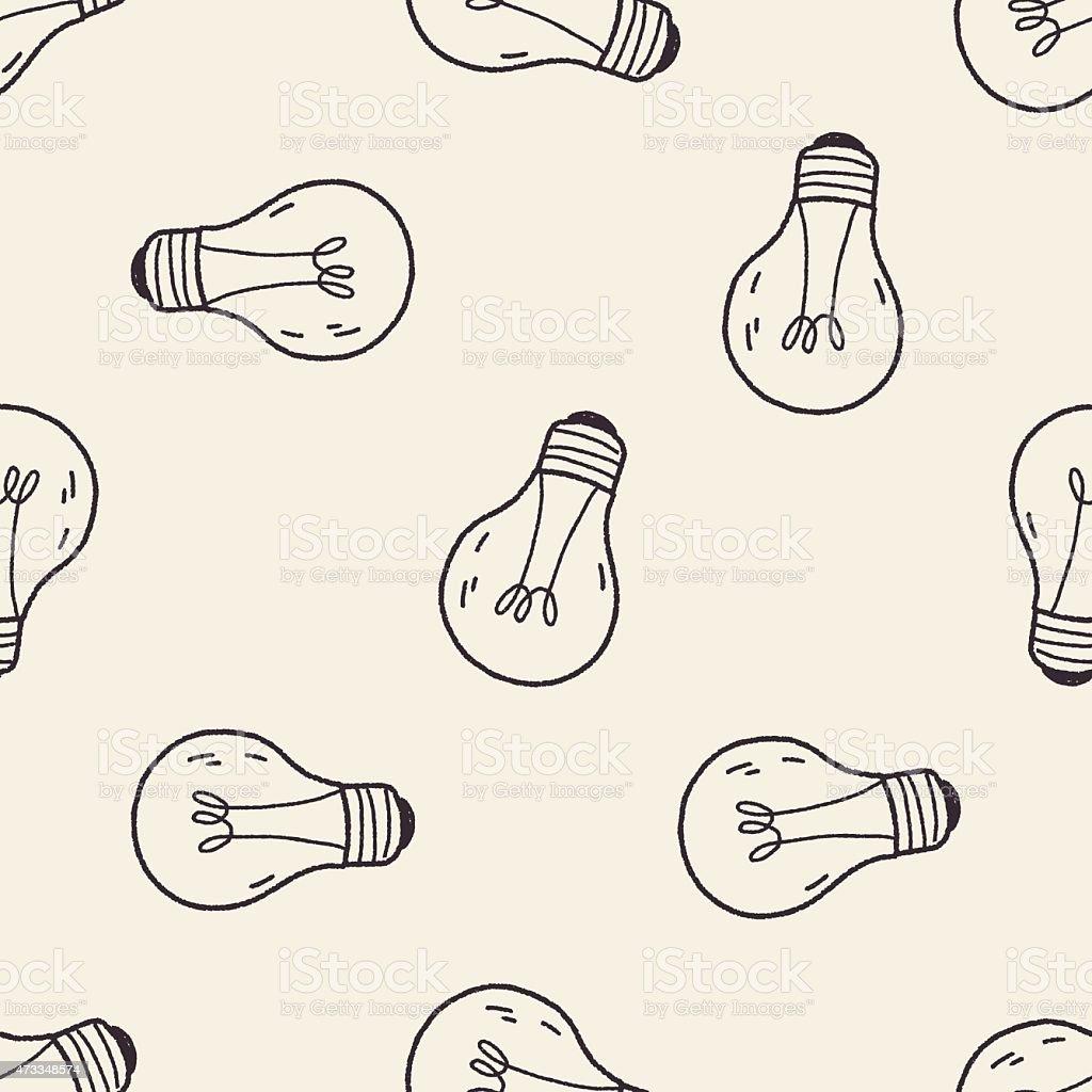 Light Bulb Wallpaper: Doodle Light Bulb Seamless Pattern Background Stock Vector
