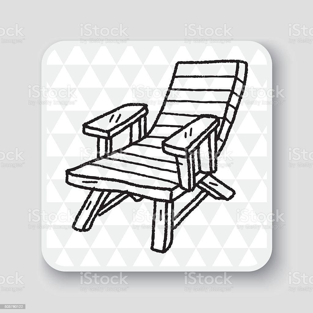 Sessel zeichnung bleistift  Gekritzel Loungesessel Vektor Illustration 505780122 | iStock