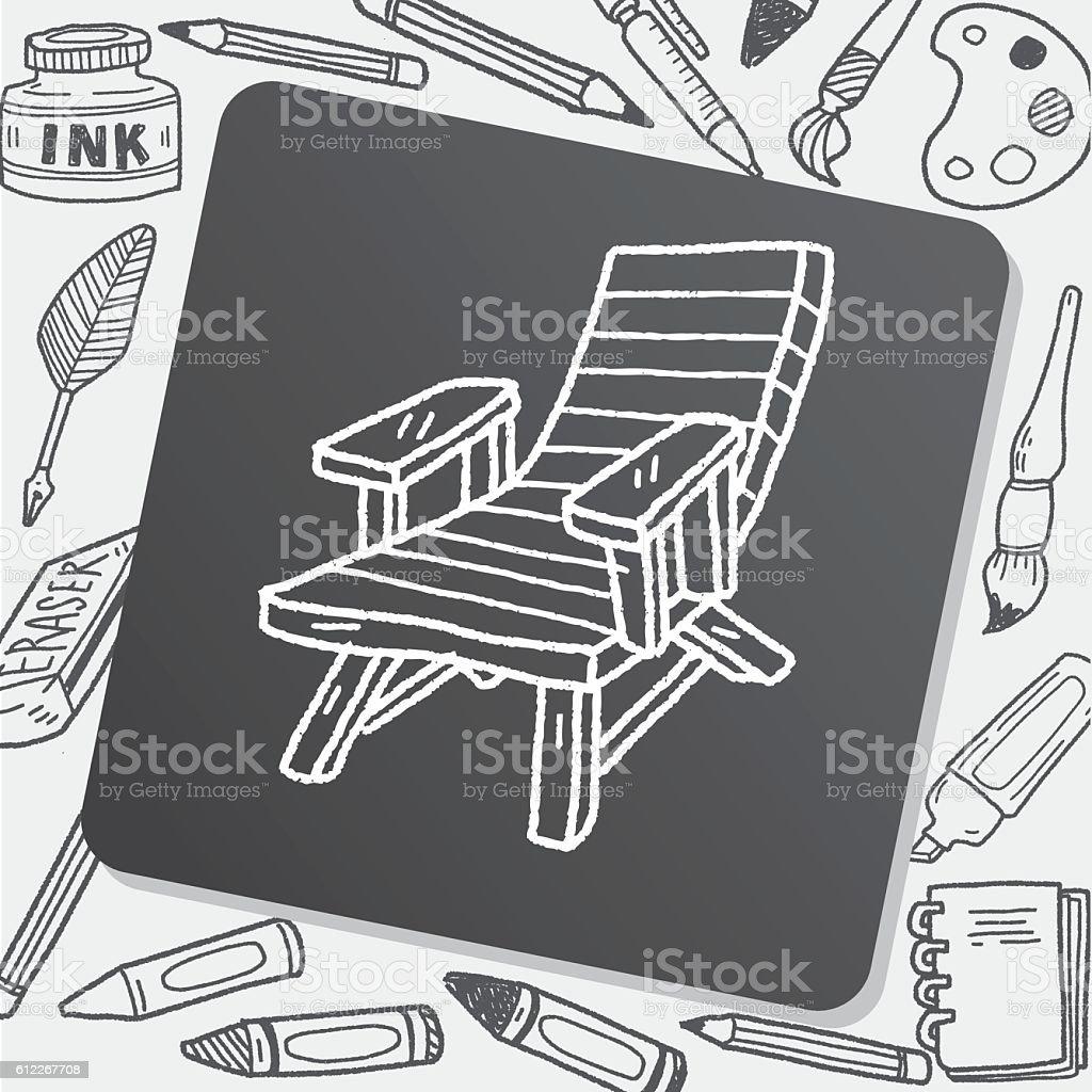 Sessel zeichnung bleistift  Gekritzel Loungesessel Vektor Illustration 612267708 | iStock