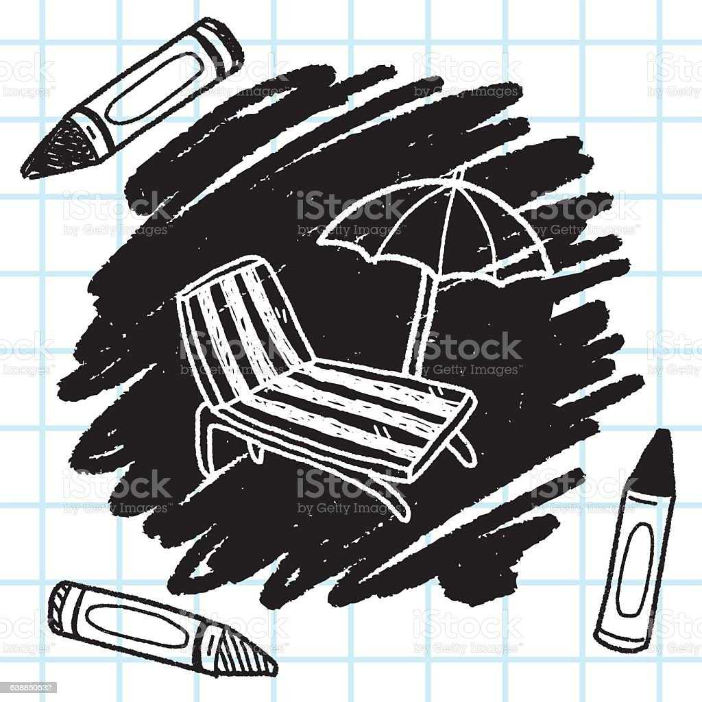 Sessel zeichnung bleistift  Gekritzel Loungesessel Vektor Illustration 638850532 | iStock
