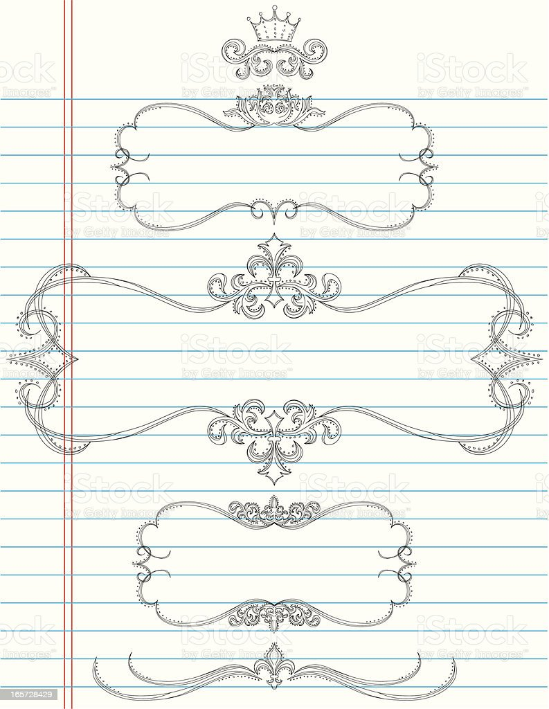 doodle page frames royalty-free stock vector art