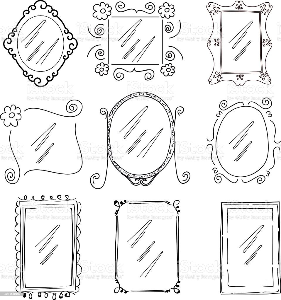 doodle picture frames royalty-free stock vector art