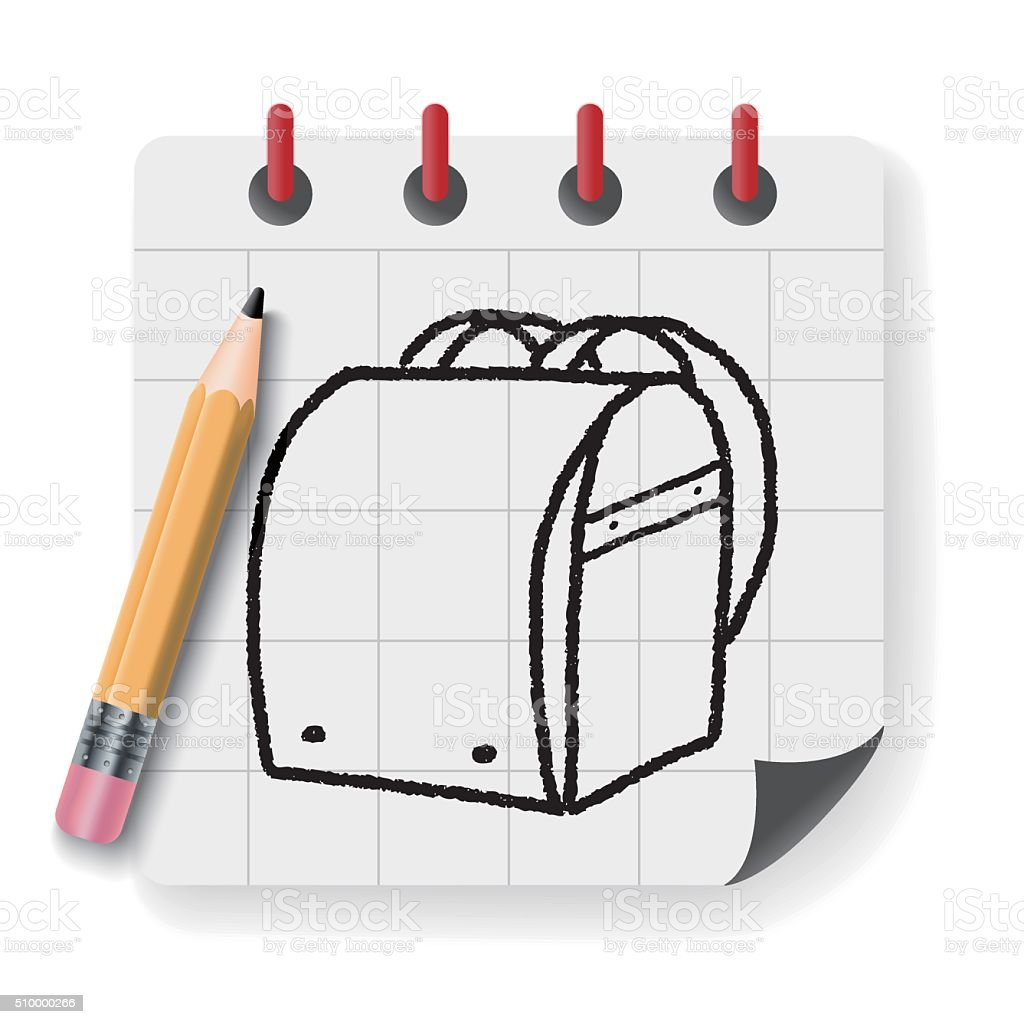 School bag diagram - Doodle School Bag Royalty Free Stock Vector Art