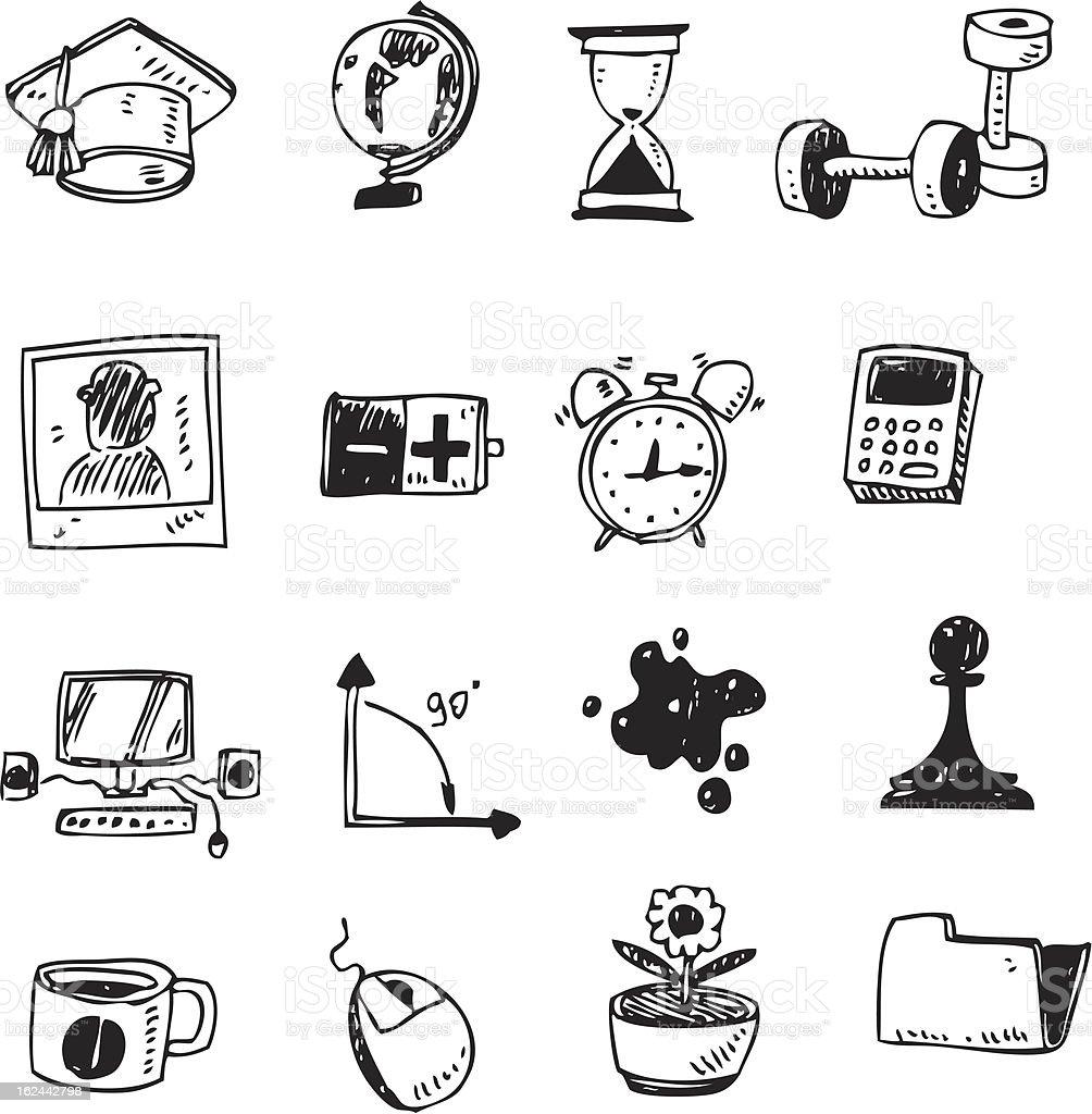 doodle set - school royalty-free stock vector art