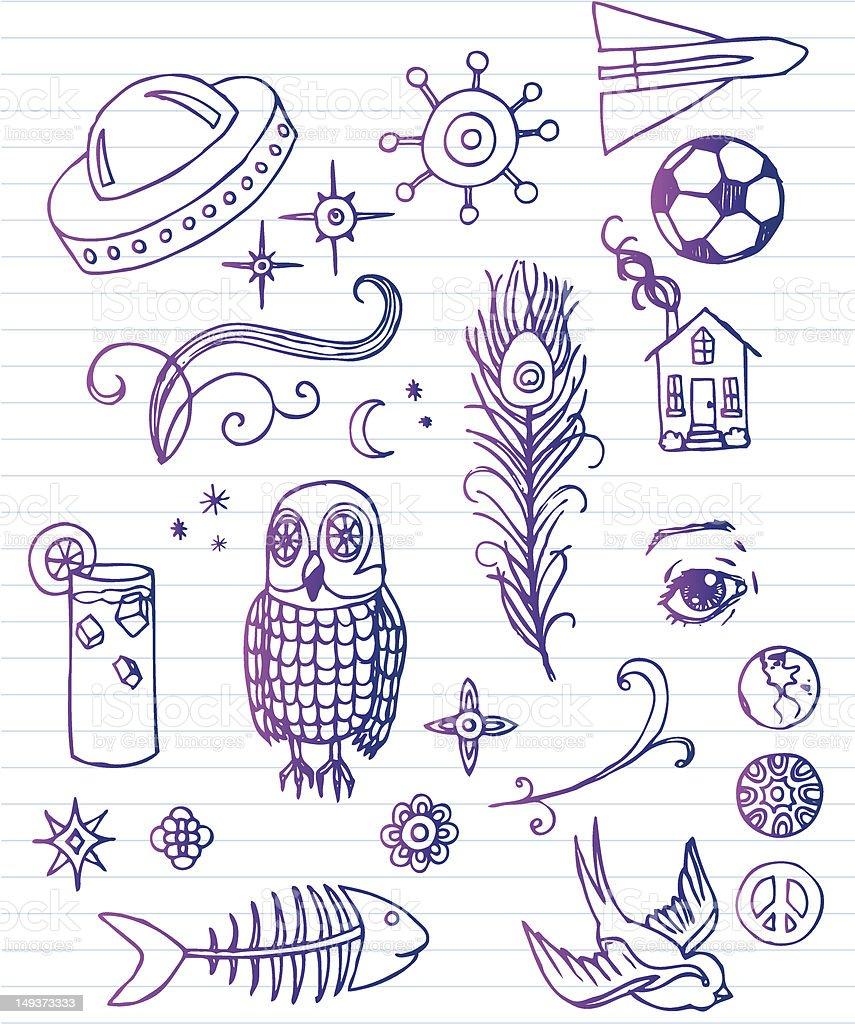 Doodle Sheet vector art illustration