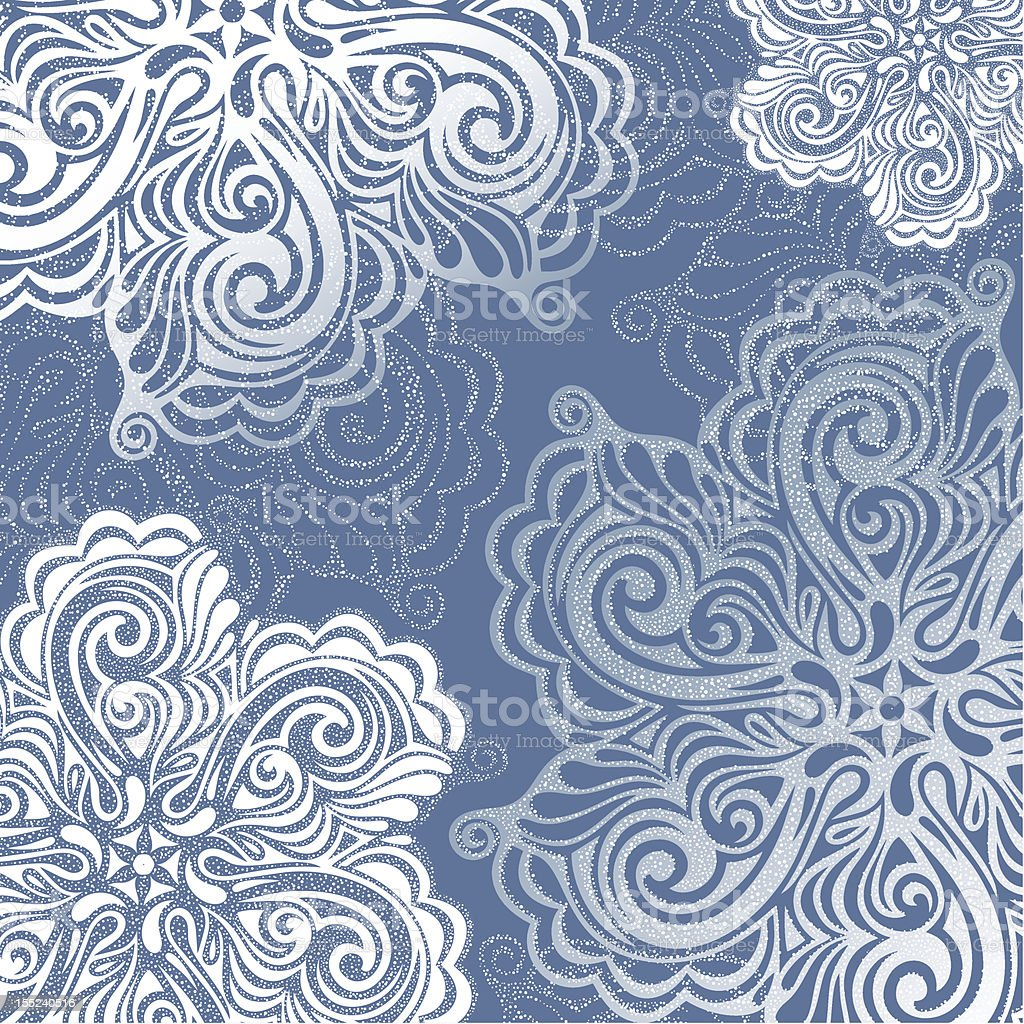 Doodle snowflake christmas background royalty-free stock vector art