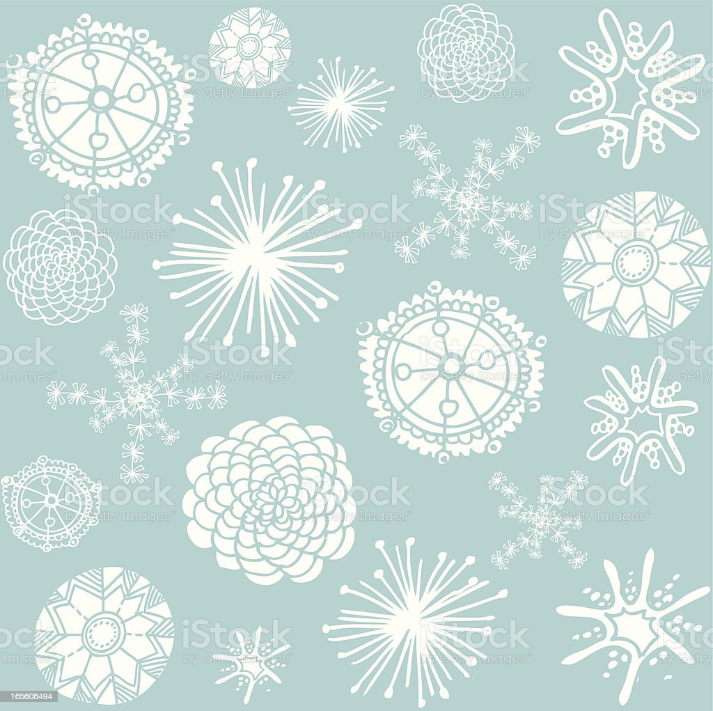 Doodle Snowflakes royalty-free stock vector art