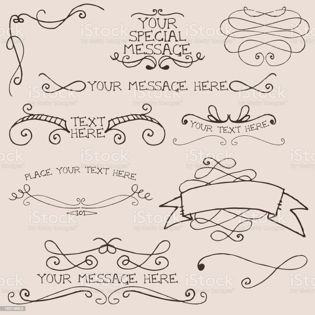 Doodle swirl elements royalty-free stock vector art