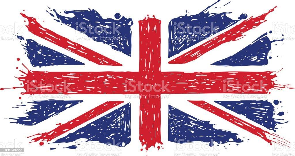 Doodle United Kingdom Flag vector art illustration