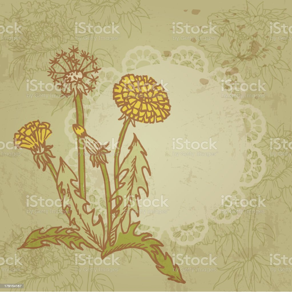 Doodle Weed Background royalty-free stock vector art