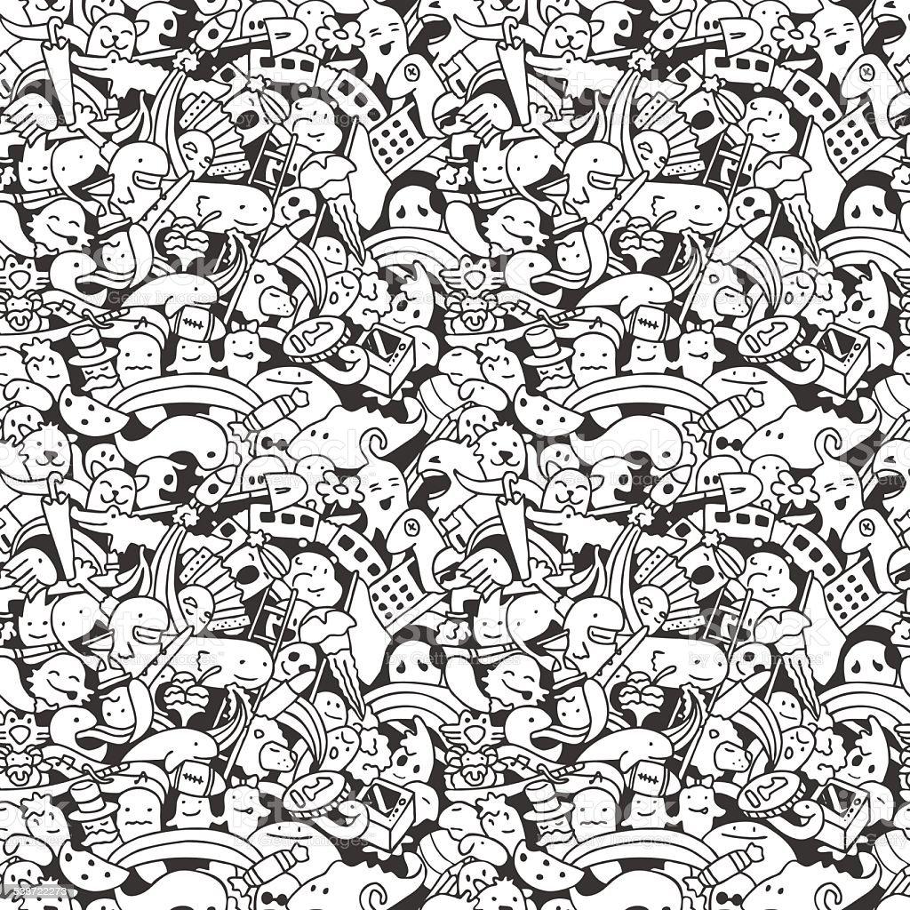 Doodle_pattern vector art illustration