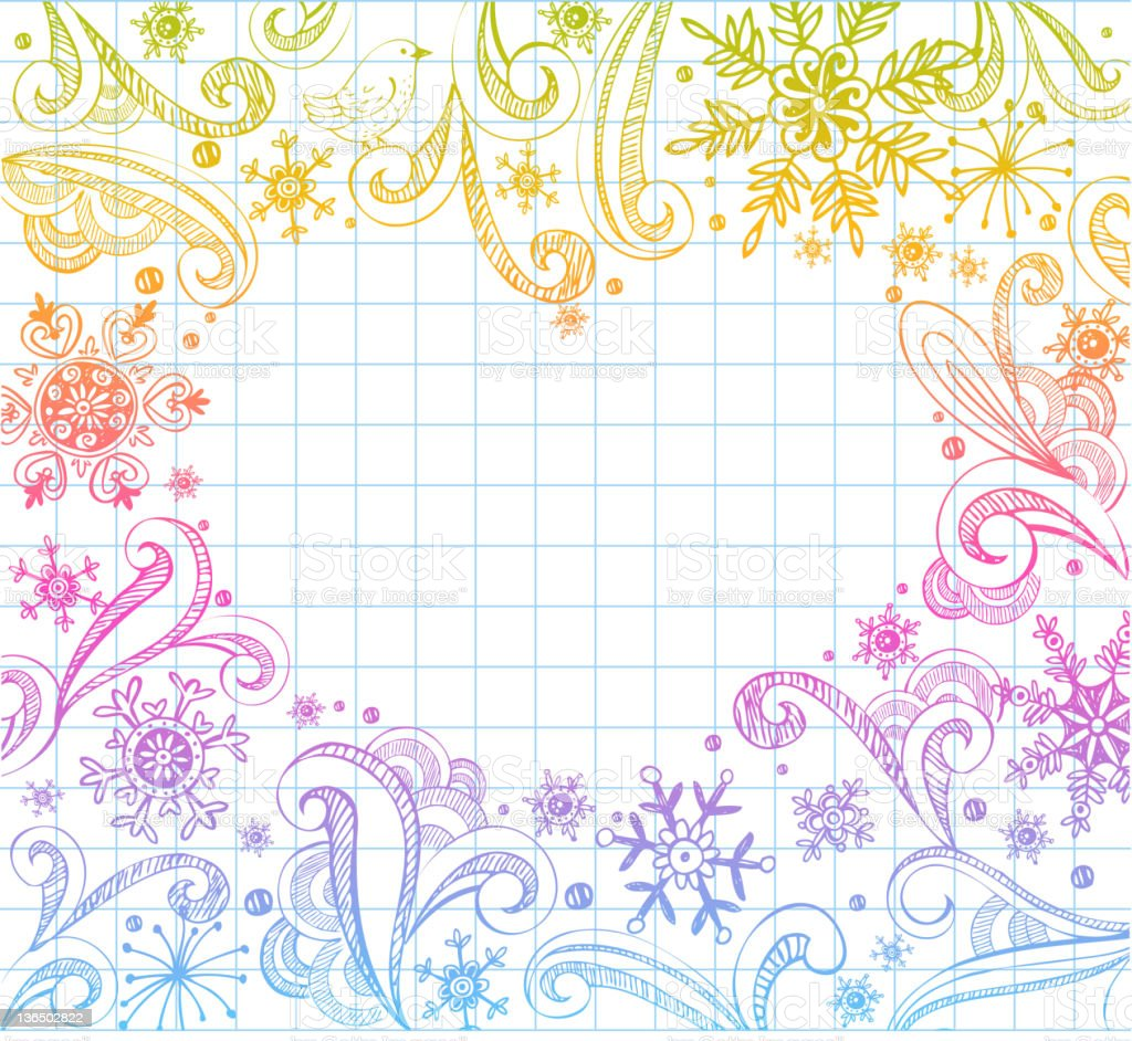Doodled Frame royalty-free stock vector art