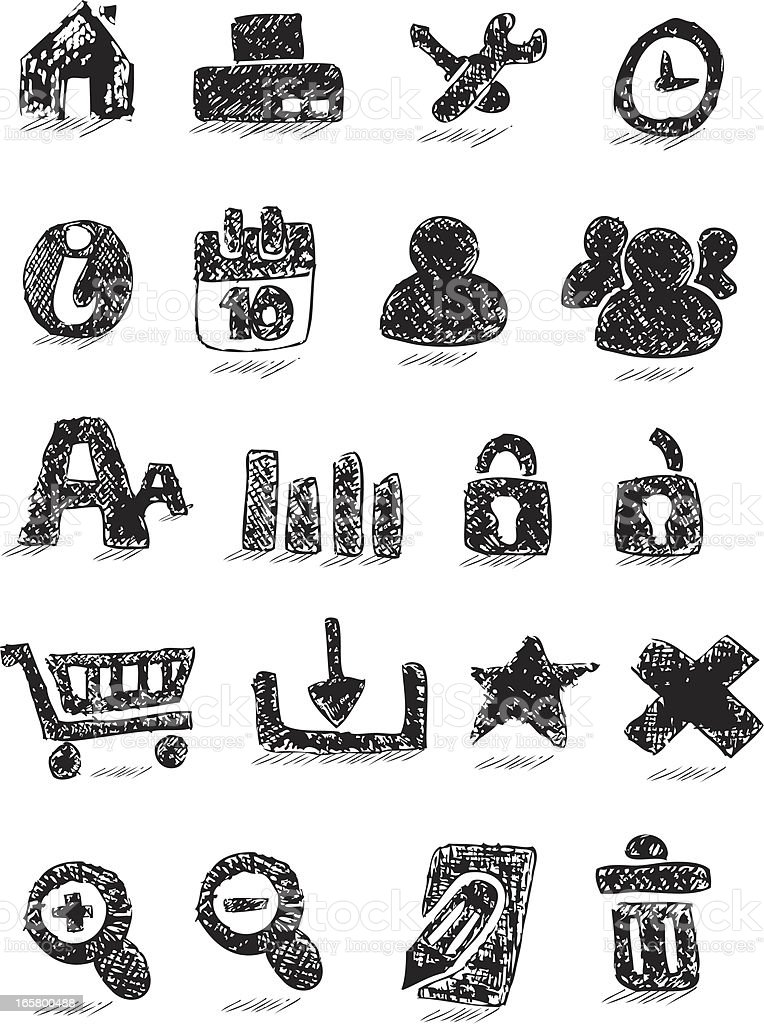 Doodled web icon royalty-free stock vector art