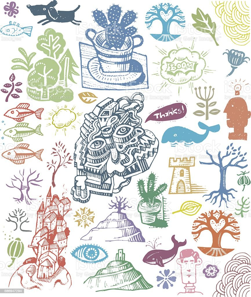 Doodles elements illustration vector art illustration