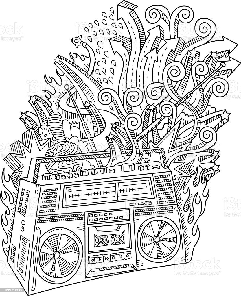Doodles stereo royalty-free stock vector art