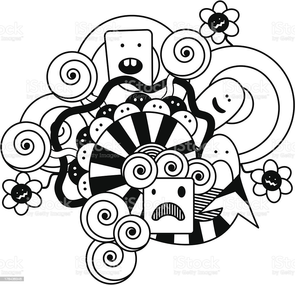 Doodles royalty-free stock vector art