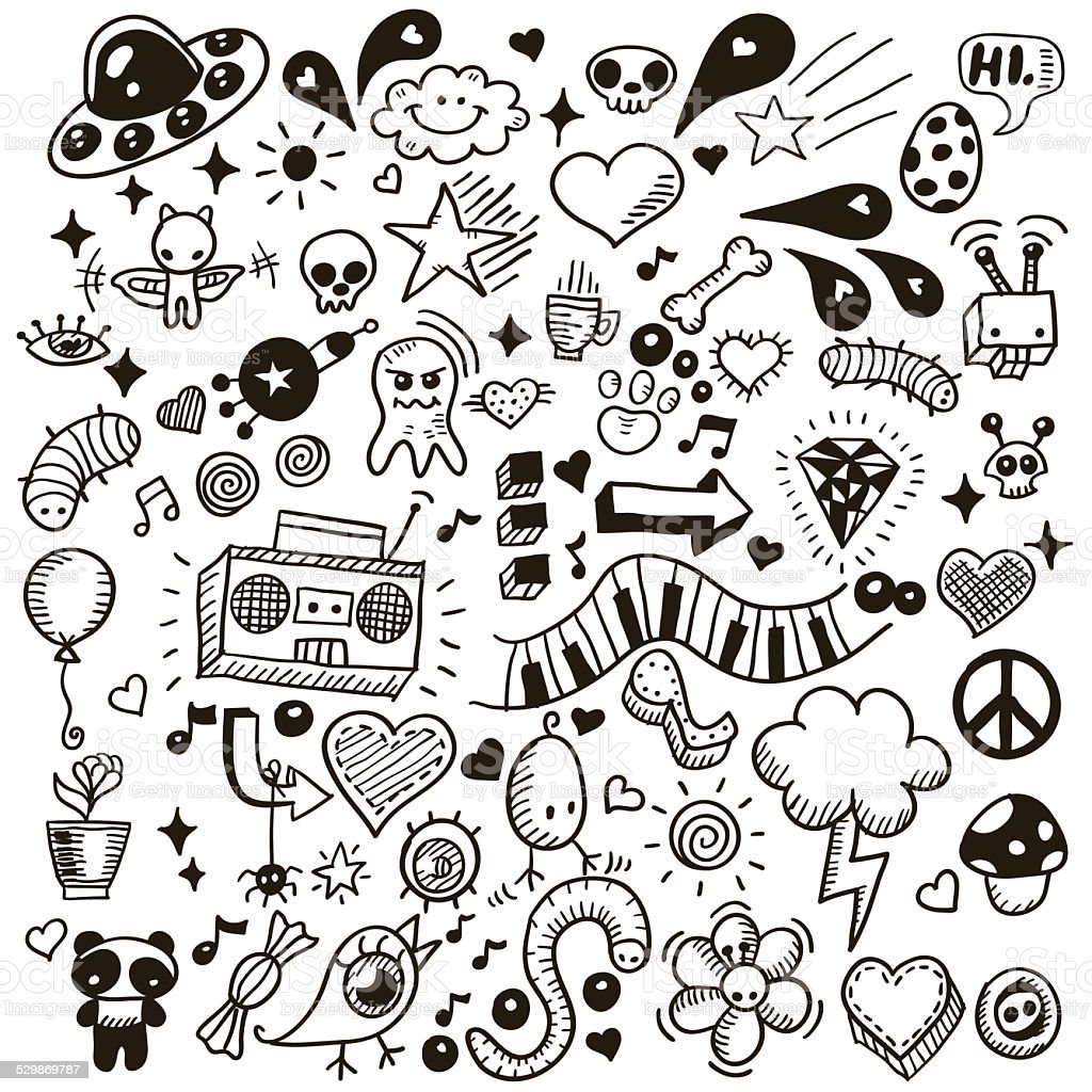 Doodles vector art illustration