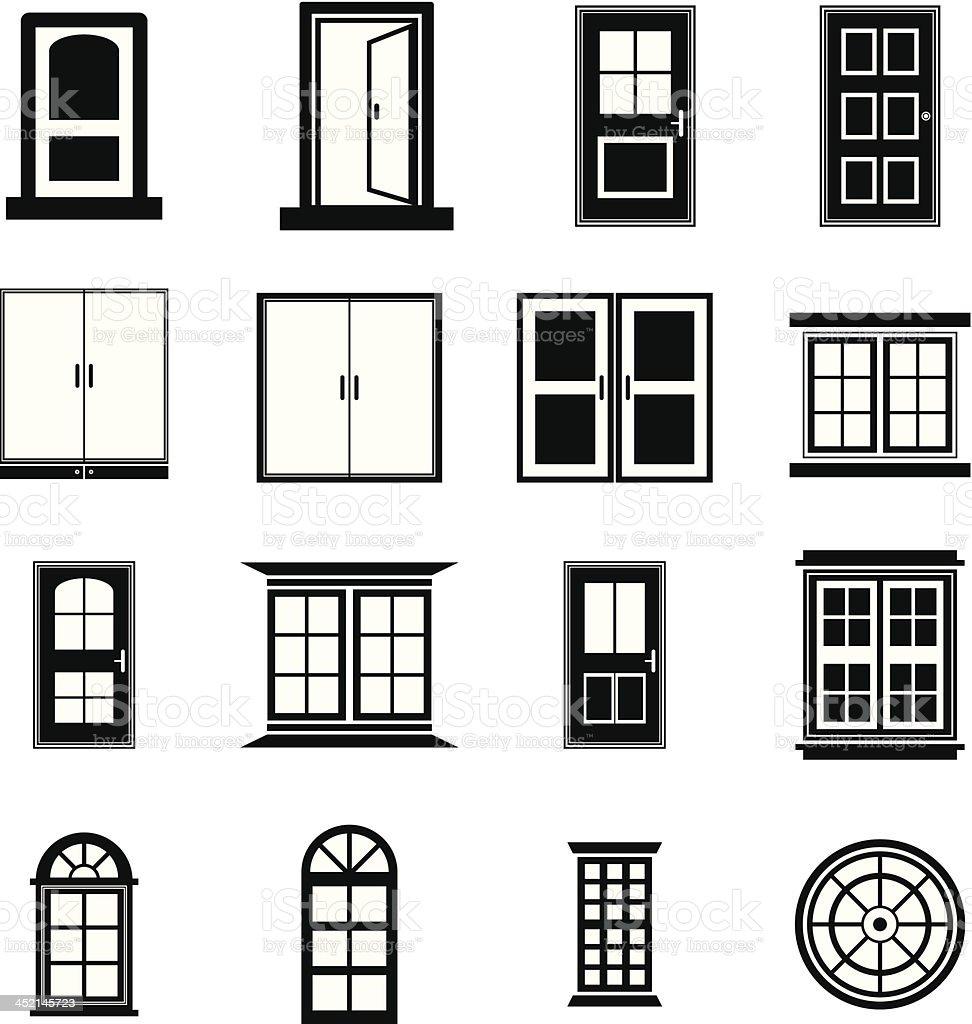 Door and Window vector vector art illustration