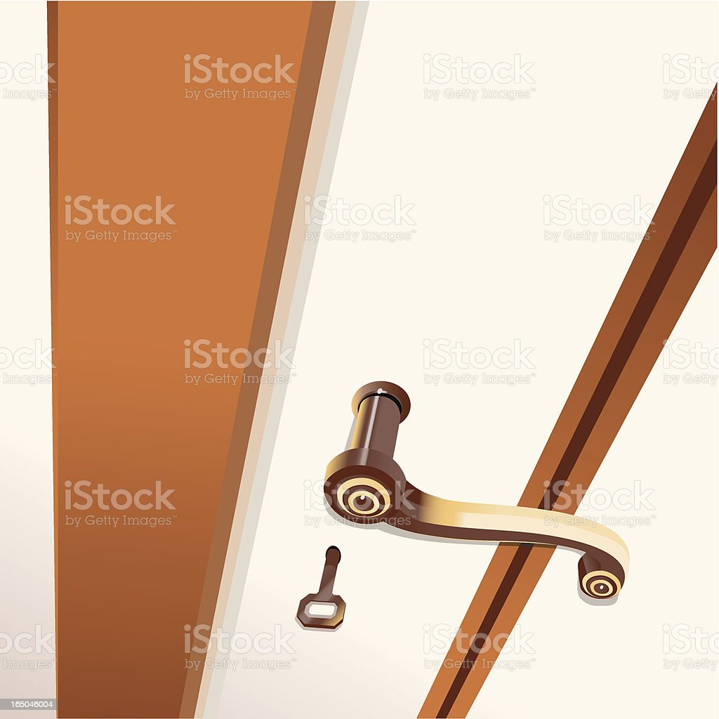 Door close up royalty-free stock vector art