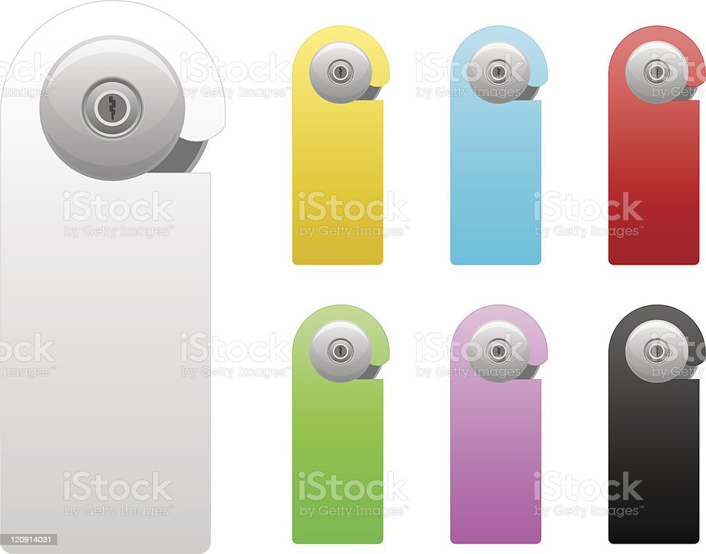 door handle set royalty-free stock vector art