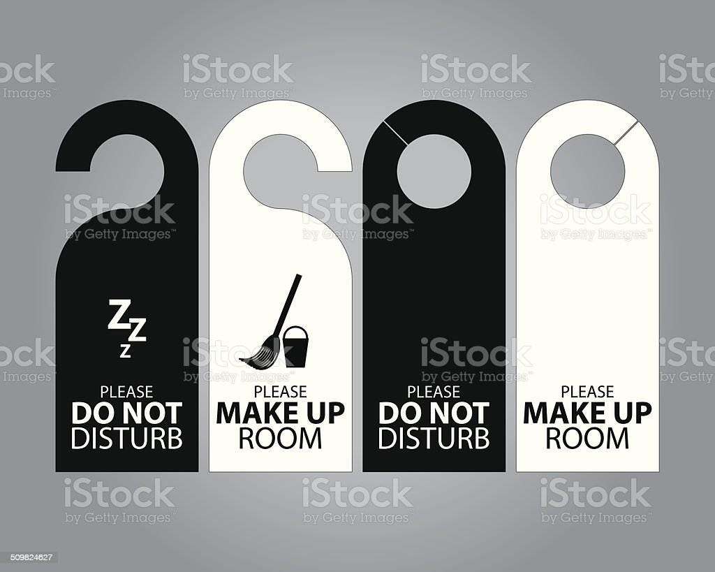 Door Hanger Tags vector art illustration
