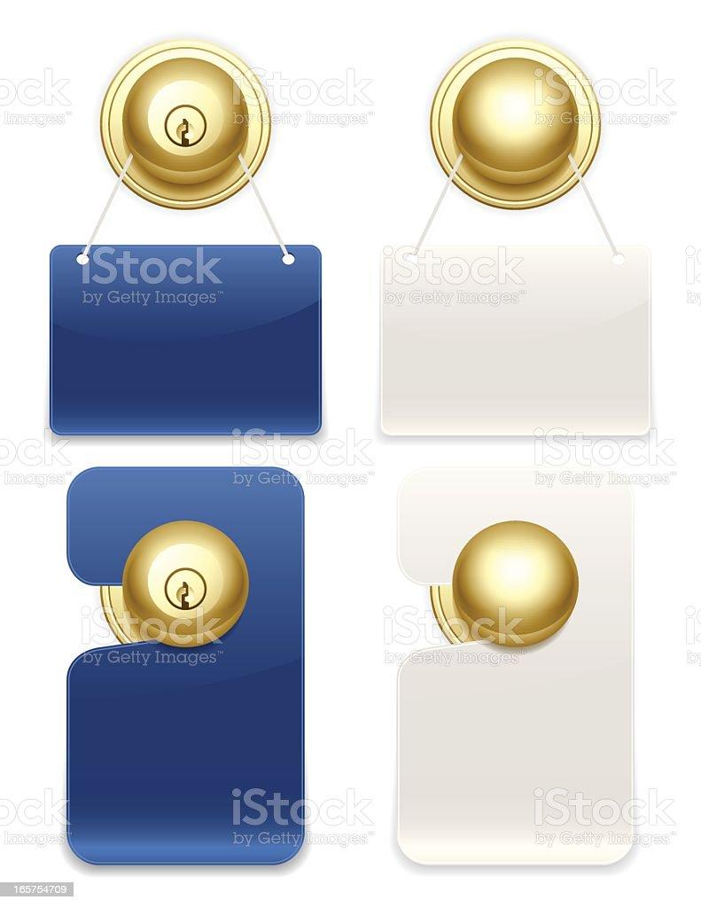 Door Hangers royalty-free stock vector art